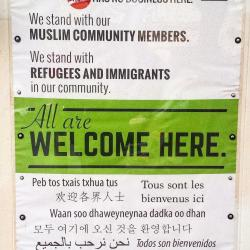 Welcome sign in many languages