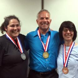Winners of first through third place: Deanna Grimstead, Wayne Miller and Barbara Piperata