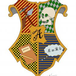 Anthropology on Hogwarts shield created by Emma Lagan