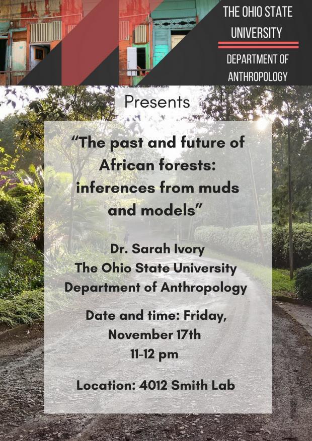 Dr. Sarah Ivory lecture announcement
