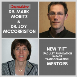 This image displays FIT Mentors Dr. Moritz and Dr. McCorriston