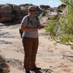Catherine Mendel doing field work in Arizona