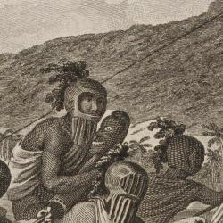 Engraving of ancient Hawaiians