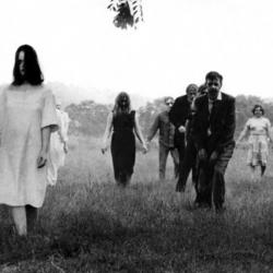 Zombie scene from the 1968 film, Night of the Living Dead