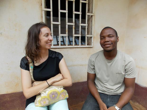 Kelly Yotebieng conducting research in Cameroon