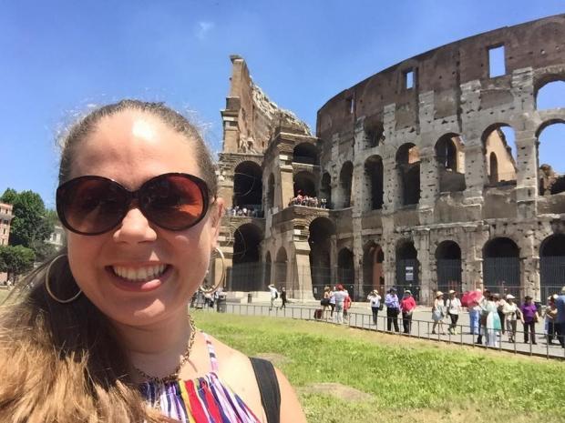 Gretchen Klingler outside of the Coliseum