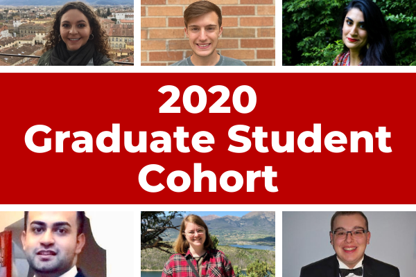 A collage of the 2020 graduate student cohort