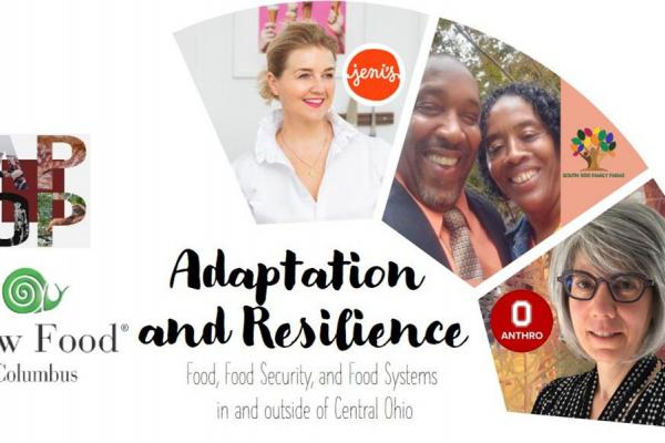 A graphic with the speakers for the Adaptation and Resilience talk