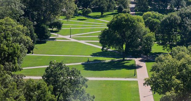 View of the Oval, on the main campus