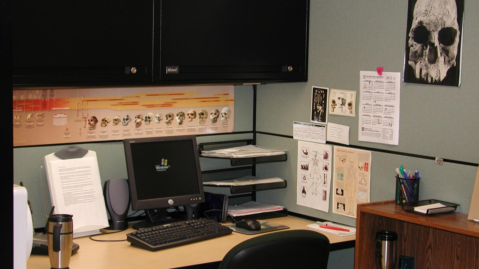 A workstation in the Bioarchaeology Research Laboratory (BARL)